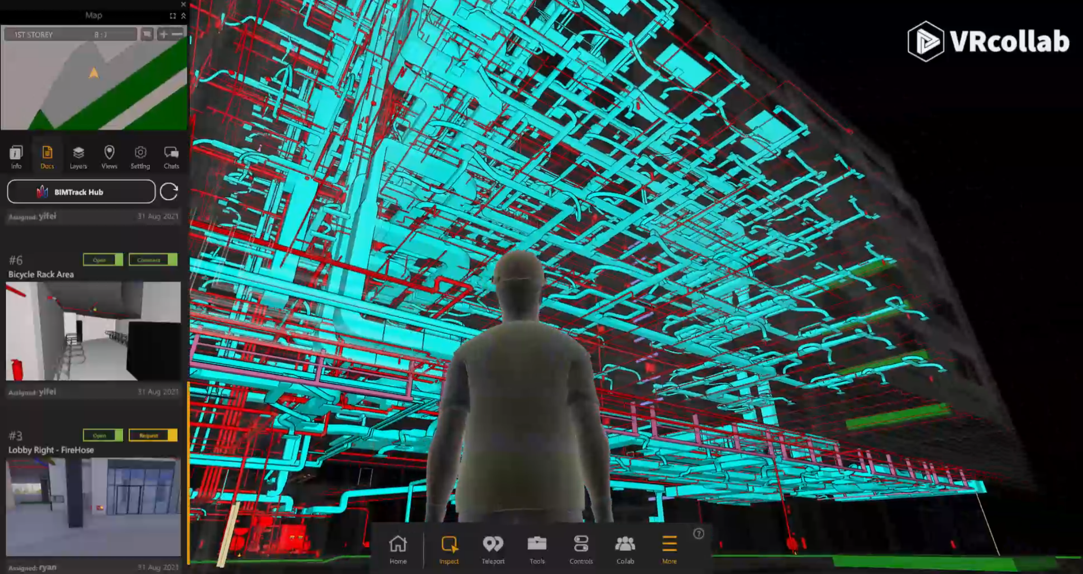 VRcollab X Ray Mode for interdisciplinary virtual coordination